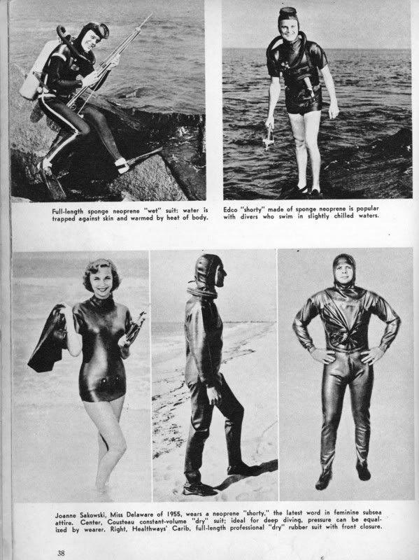 Make Your Own Vintage Wetsuit Vintage Scuba Diving