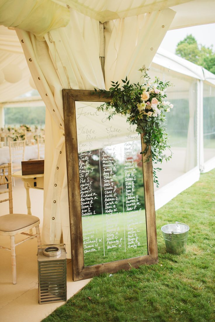 Mirror Table Plan | Frances Sales | http://www.rockmywedding.co.uk/victoria-joel/