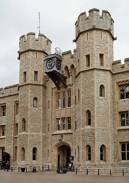 Tower of london, jewel house entrance. The scaffold where Anne Boleyn was executed stood to the left.