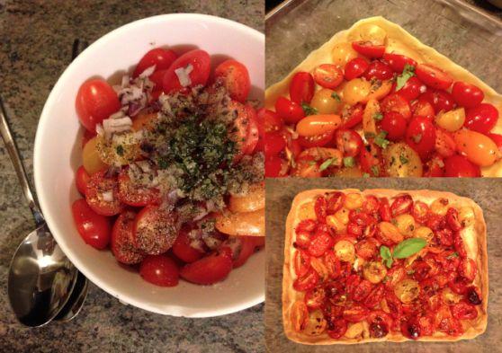 Tarte Tomates Cerise aux 4 couleurs, en 35 minutes Top Chrono !