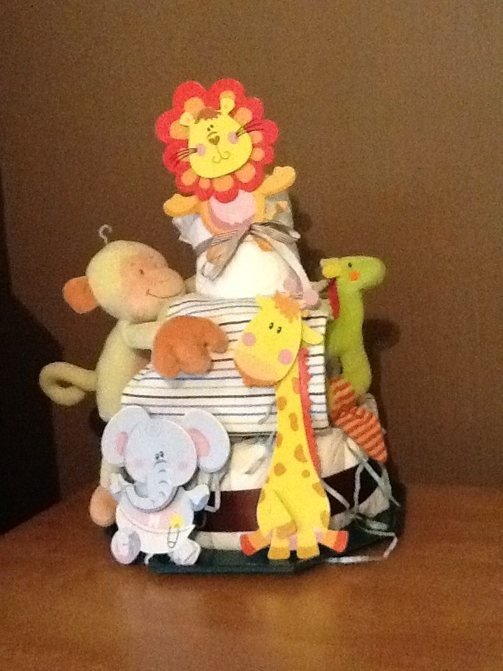 Jungle diaper cake Made in france By 100 pour 100 Amour In Bourg en Bresse