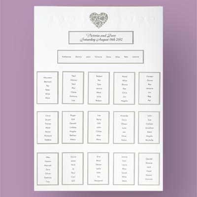 Stencil Heart Table Plan Kit In Pearl Silver