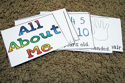 Mommy's Little Helper: All About Me Preschool Theme