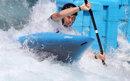 Ireland's Eoin Rheinisch in training for the Canoe Slalom event, London 2012 Olympic Games. Eoin is from Leixlip, just five minutes from Maynooth. We wish him the best of luck!