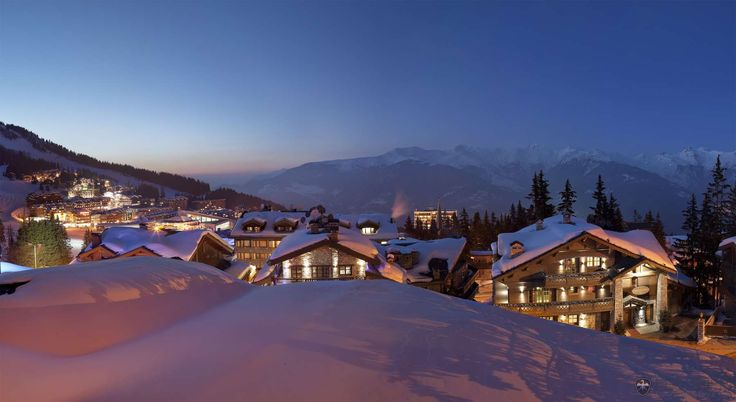 Luxury ski resort town of Courchevel in the French Alps
