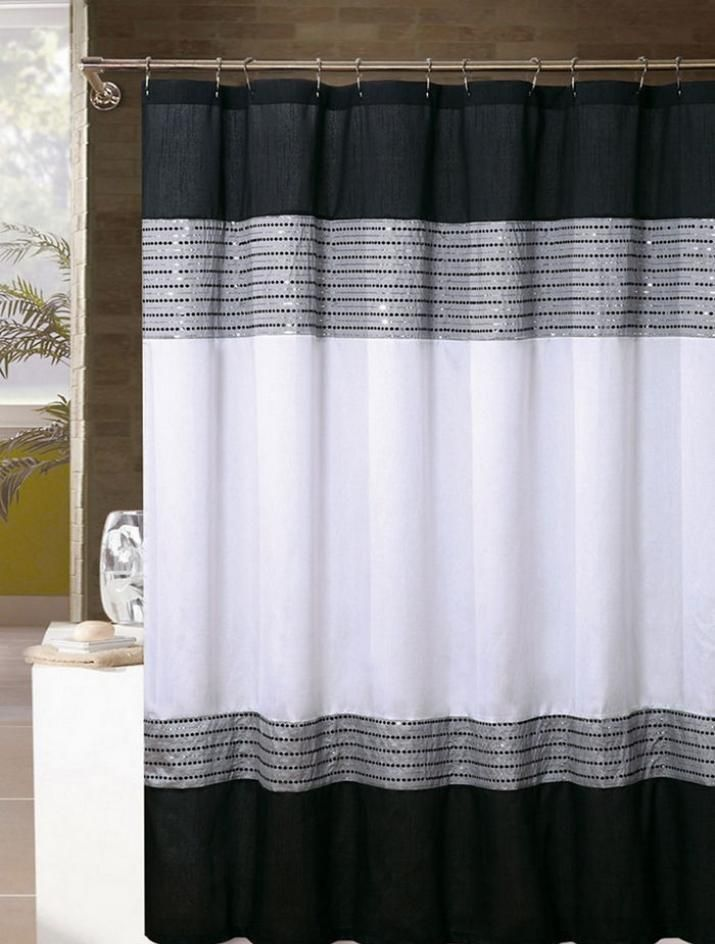 Silver Shower Curtain Gray Curtains