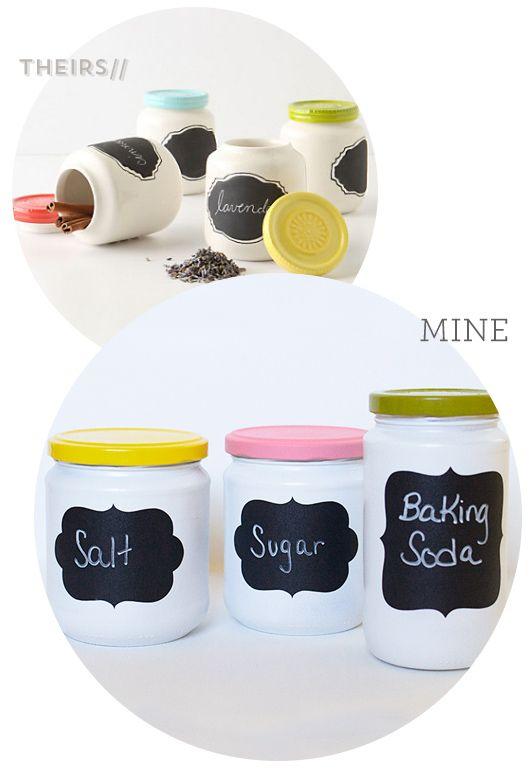 DIY Anthropologie Chalkboard Spice Jars