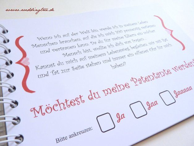 Fotoalbum & Gästebuch - Patentante - Willst du meine Patentante sein? - ein Designerstück von Be-nice-4-you bei DaWanda