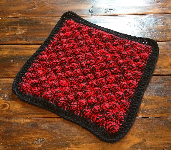 Handmade Crochet Texas Tech Red and Black Car Seat by CrochetbyCre