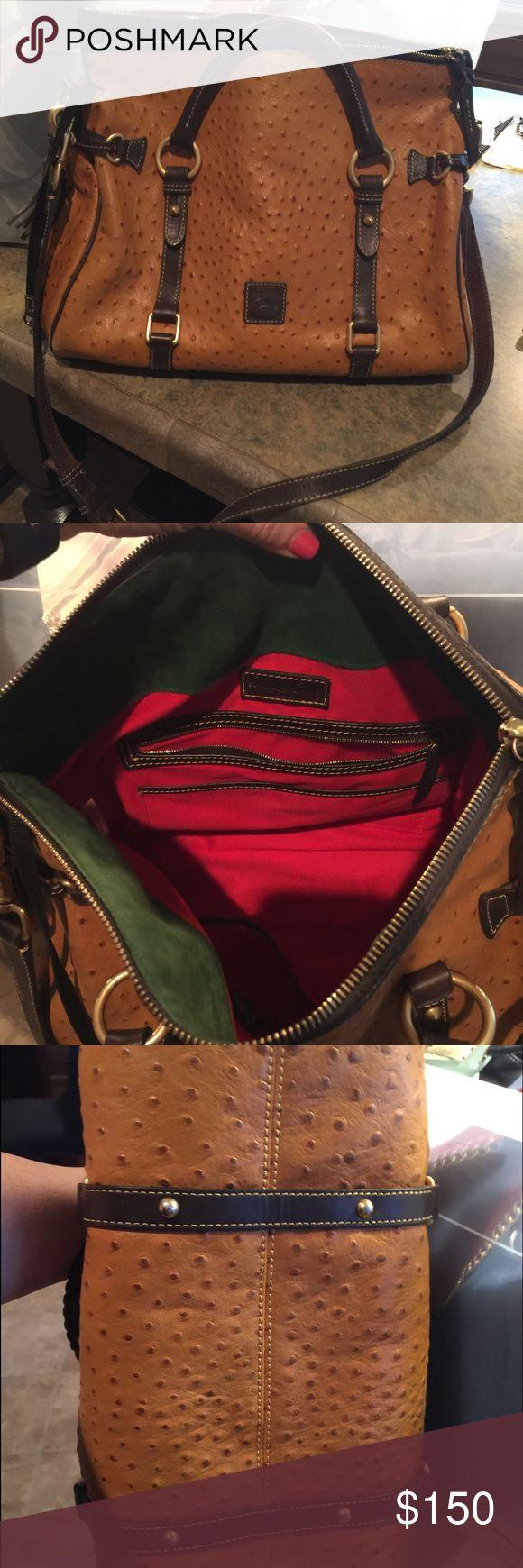 Dooney & Bourke large ostrich handbag Gorgeous bag. Excellent condition Dooney & Bourke Bags Crossbody Bags
