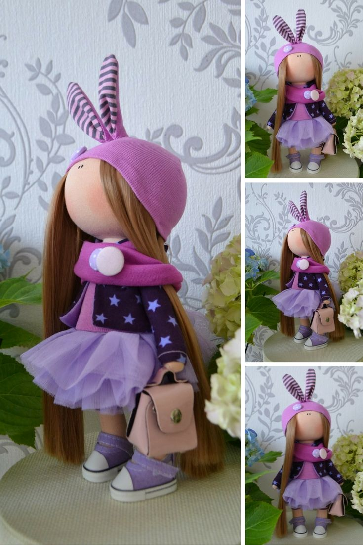 Bunny doll Rabbit doll Handmade doll Interior doll Textile doll Tilda doll…