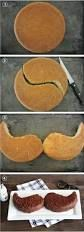 Super simple- How to make a moustache cake? Take one circle, cut it in a yin-yang pattern and flip...