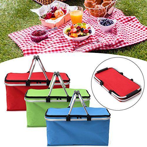 Cestello da picnic o per la spiaggia. Disponibile in 3 colori. Materiale: 600D panno di Oxford impermeabile + EPE + Alluminio + Tubo di alluminio.