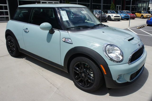 2013 Mini Cooper S Hardtop In Ice Blue With Matching Roof