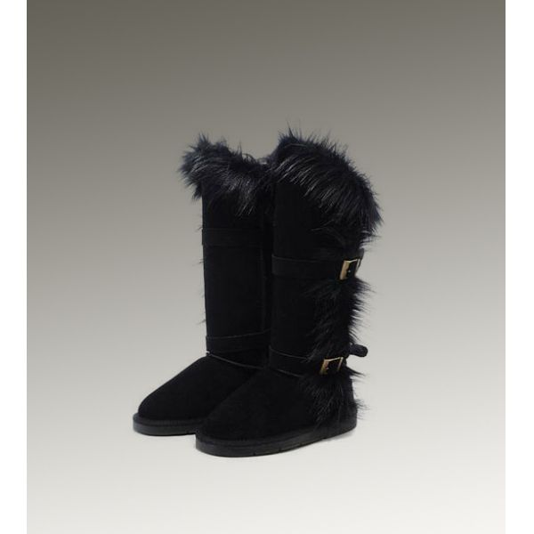 Ugg Beautiful Ugg Fox Fur Tall 1984 Ladies Boots For Womens Outlet Ugg