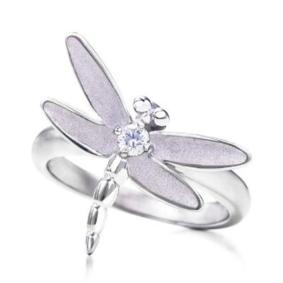 Tiffany Sterling Silver Dragonfly Ring
