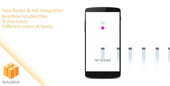 Bouncing Ball Android Game Download: https://codecanyon.net/item/bouncing-ball-android-game/17405101?ref=Ponda #reskinapp #reskin #android #game