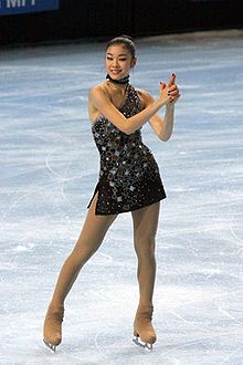 Kim Yuna South Korean World Champion reigning figure skater, one of those favored for Gold in the Olympics 2014.