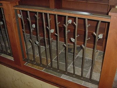 Wrought Iron Railings Tree Branch Textured By