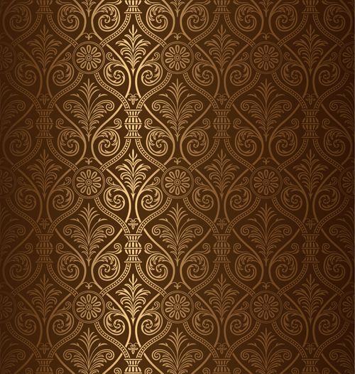 Seamless ornamental pattern vector material 05