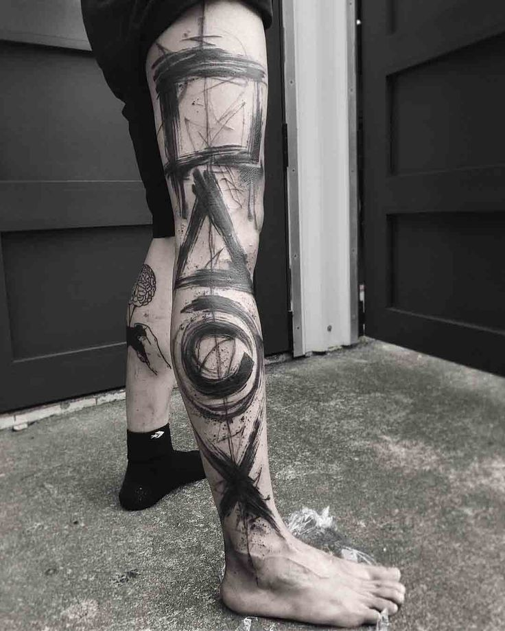 leg tattoo playstation controller