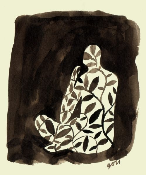 Ink drawing - Ben Goss