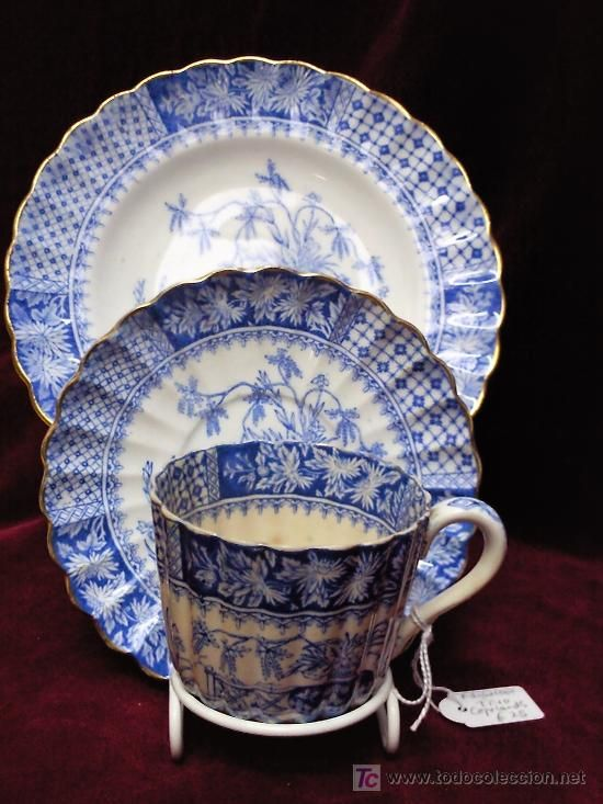 Vintage porcelain breakfast set by Copeland China, England