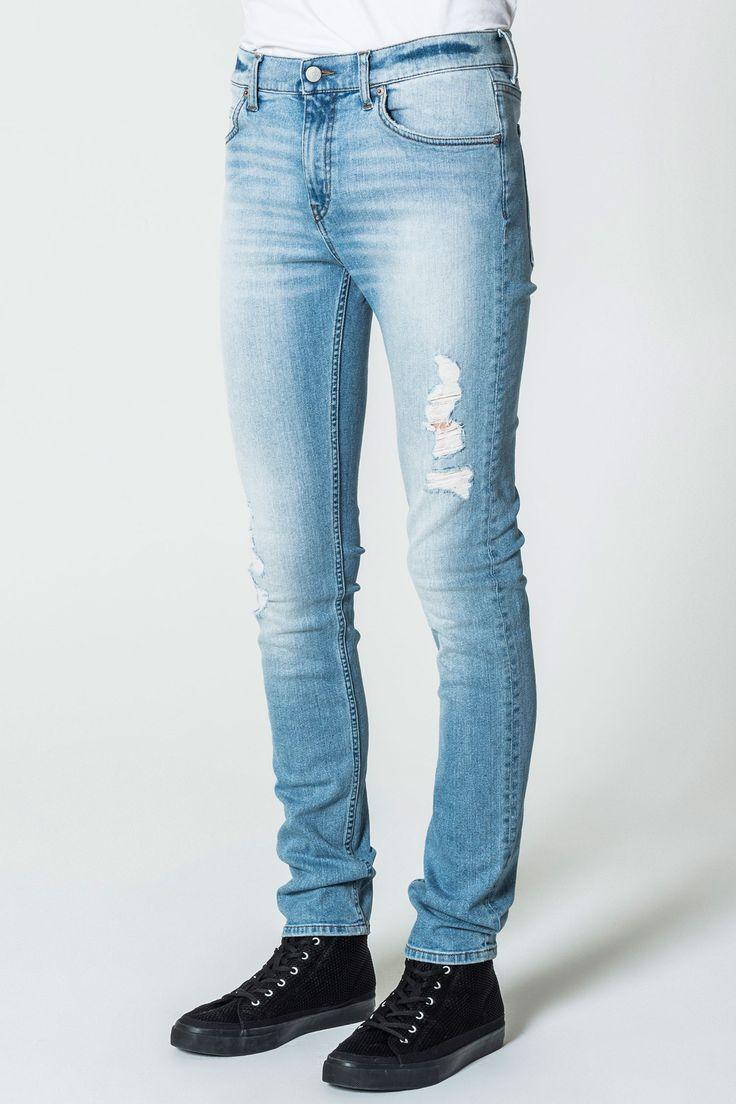 Tight Brilliant Blue Jeans
