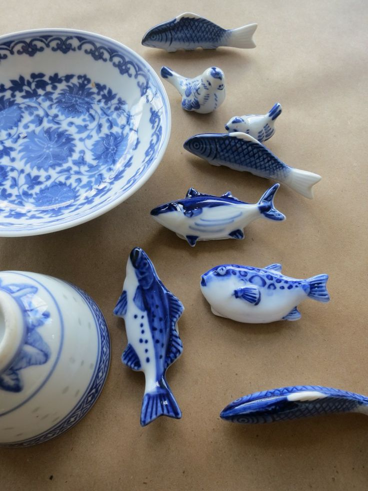 Assorted Blue & White Hashioki