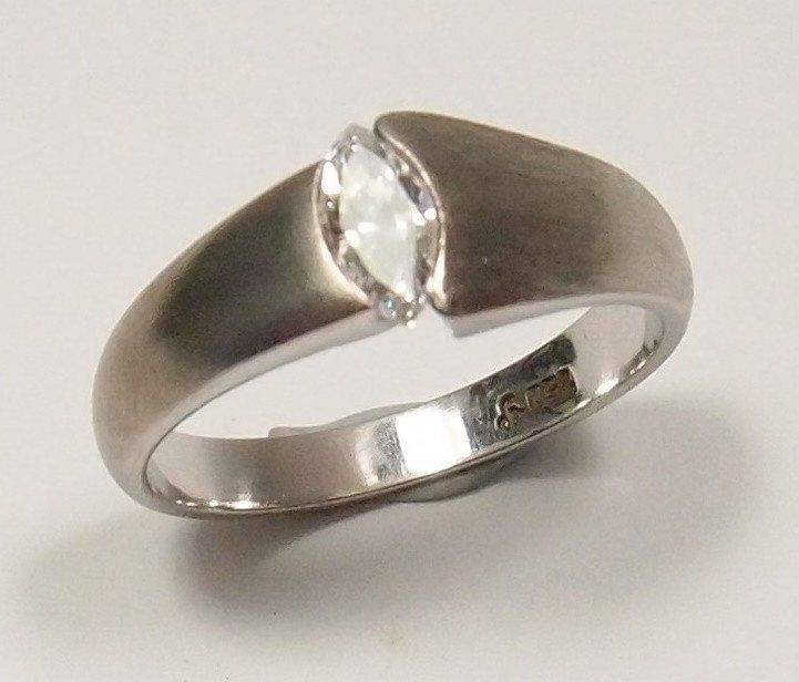Solitaire 0.38ct Marquise Cut Diamond Ring $1,800: Pre-Adored