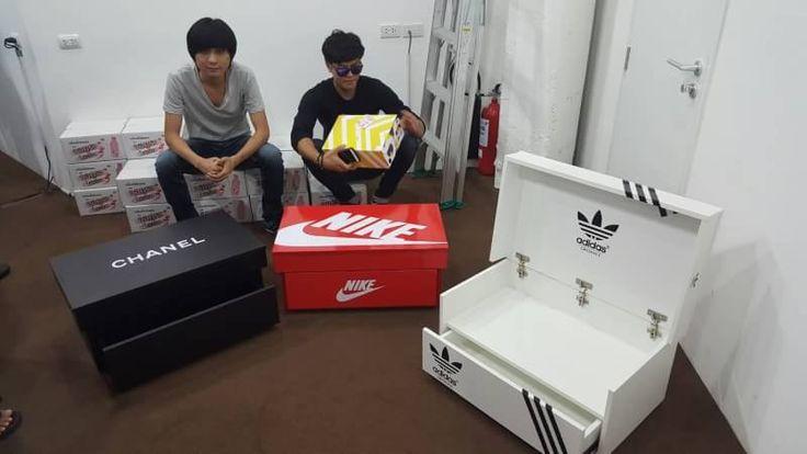 Brand names shoe box customs work  Handcraft  Get one now Line:raksanalee666  Facebook: MITUNA workshop
