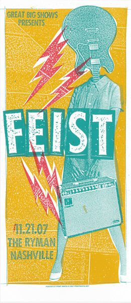 Print Mafia: Feist ( Nashville / Concert Poster / Indie Poster / Gig Poster / ScreenPrint / Silk Screen / Illustration )
