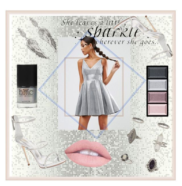 """""""Silver"""" by spookie1 on Polyvore featuring Miss Selfridge, ASOS, WALL, Giuseppe Zanotti, Clé de Peau Beauté, House of Harlow 1960 and L.A. Girl"""