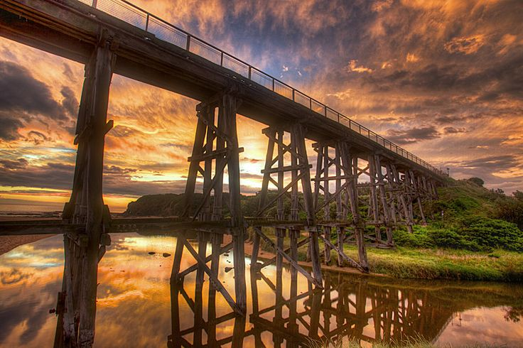 trestle bridge | Kilcunda trestle bridge | Philip Greenwood PhotographyPhilip Greenwood ...