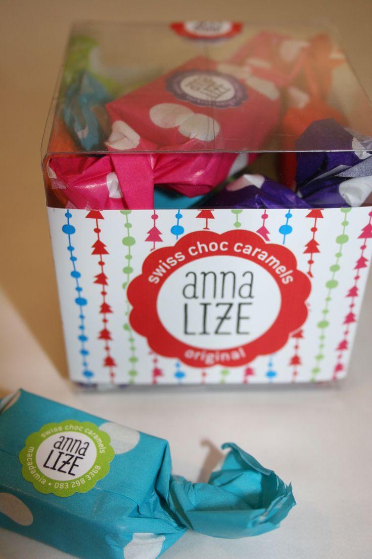 Anna-Lize Swiss Choc Caramels assorted caramel gift box. Beautiful! www.anna-lize.co.za