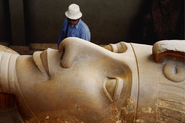 Rameses II Statue, Saqqara i want to reach out and touch this. Egypt is one of my great wants in life.