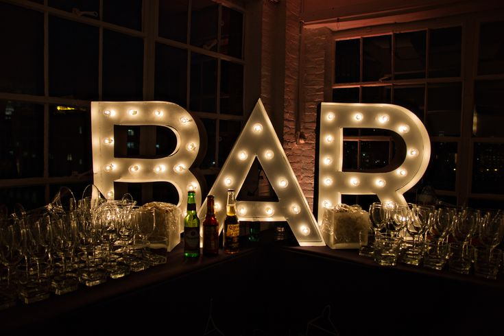 BAR Marquee Sign - DIY - www.lifestyleeventgroup.com
