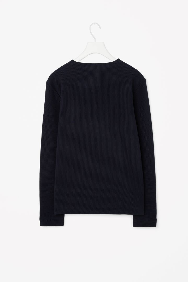 COS   Square-neck ribbed top