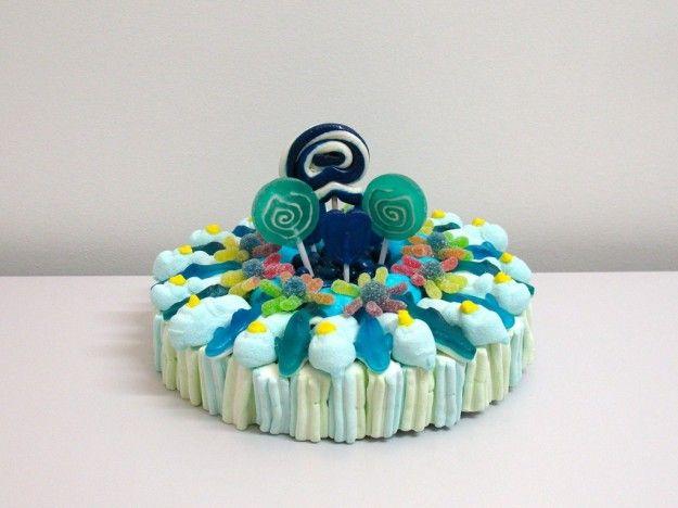 Torta caramelle gommose blu