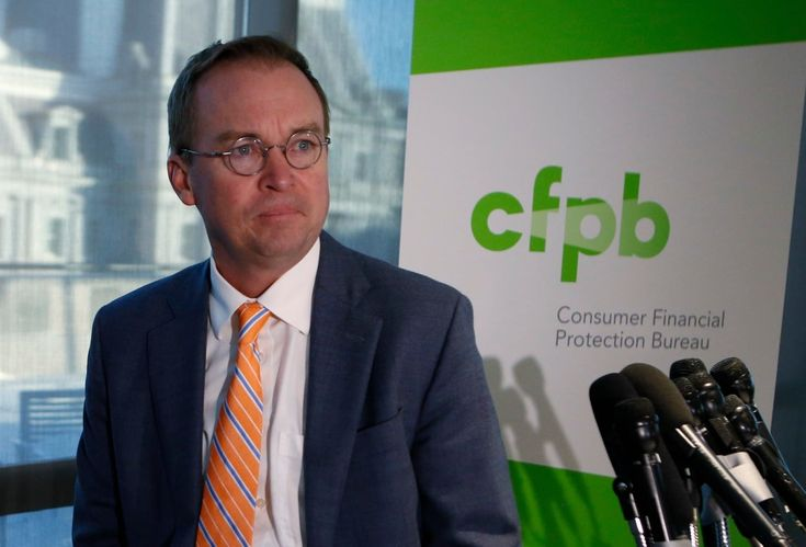 'The fish rots from the head down': Former consumer protection bureau chief fires back at Trump successor  Former CFPB chief Richard Cordray and successor Mick Mulvaney engage in war of words that includes a sonnet.