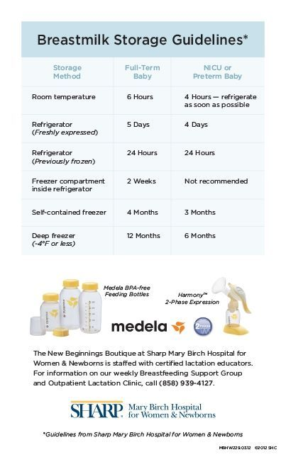 Learn best practices for storing breast milk,