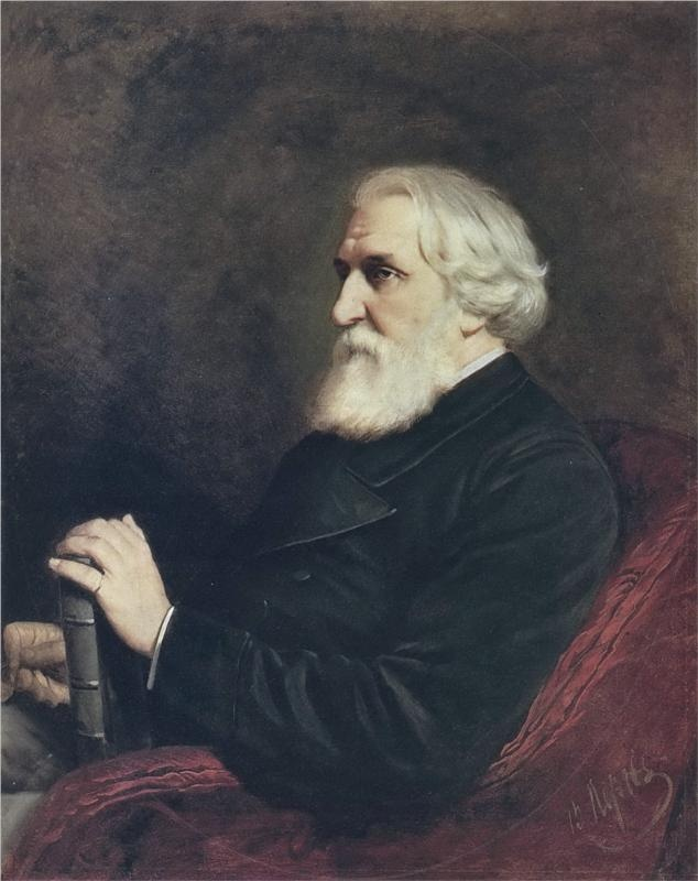 Portrait of the Author Ivan Turgenev, 1872  Vasily Perov