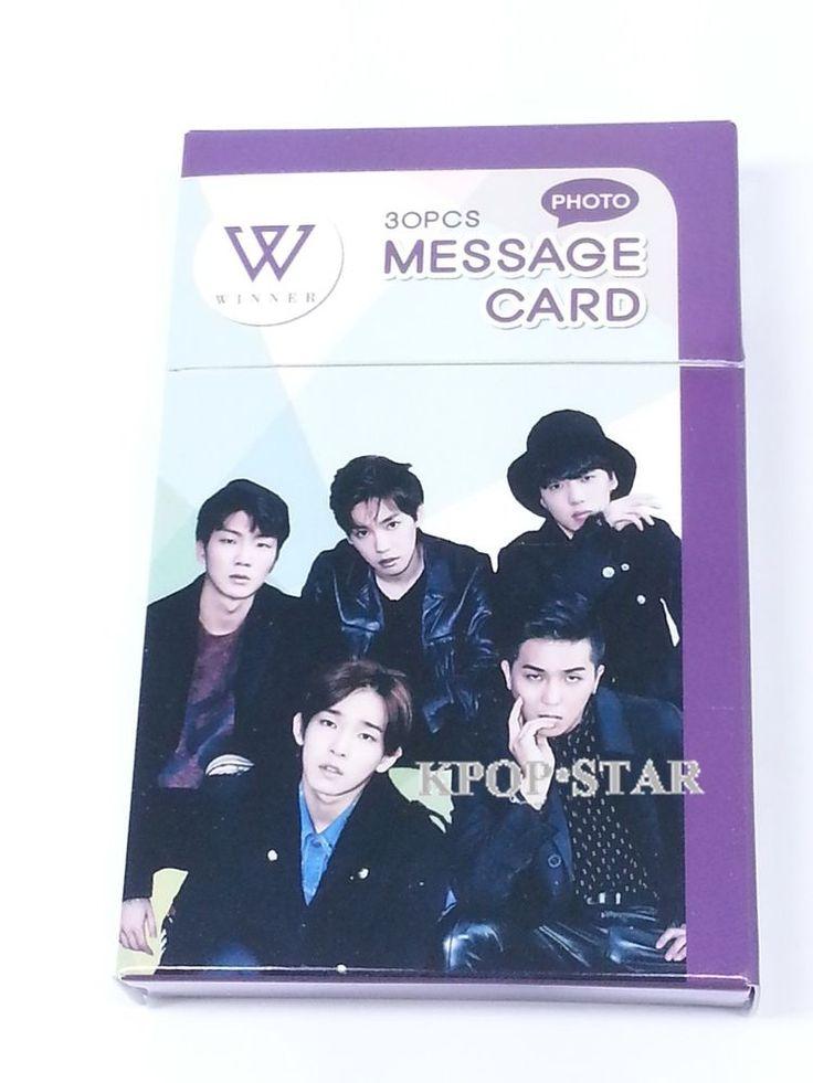 Winner SeungYoon JinWoo Photo Message Card ( 30 Piece ) KPOP K-POP Korean K Pop