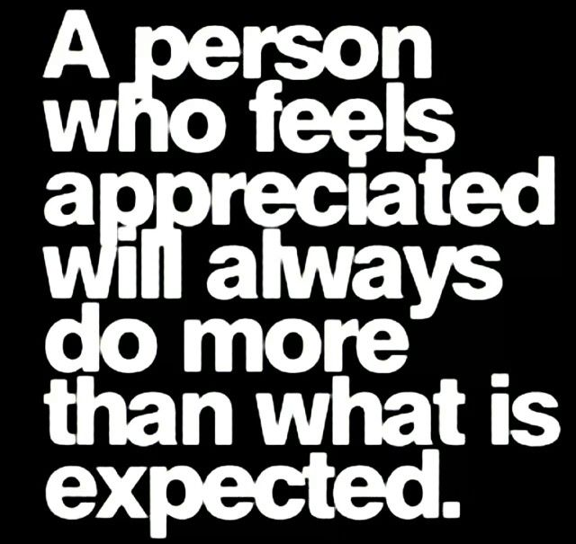 Appreciation exceeds expectation