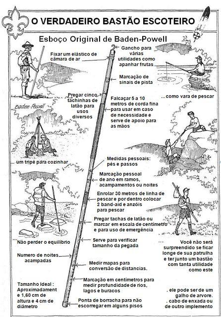O bastão do escoteiro
