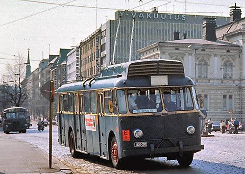 Trolleybus city of Tampere 1948-1976