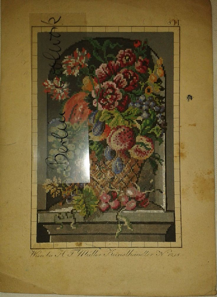 A Berlin WoolWork Floral Pattern Produced By H. F. Müller ~ eBay.de