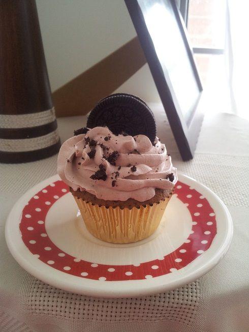 Cupcake de galleta Oreo... :)