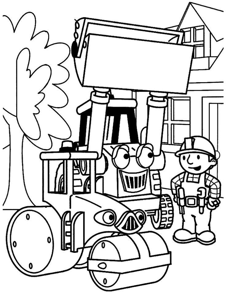 Качайте раскраски с Бобом строителем для девочек и ...