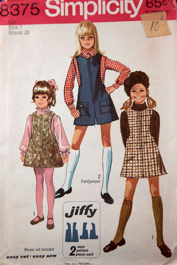 1960s gilrs jiffy jumper Simplicity 8375 by RavensNestPatterns, $11.00